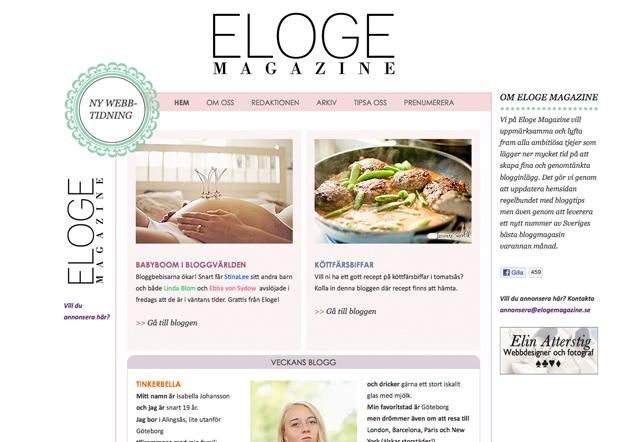 En hemsida åt en nystartad tidning