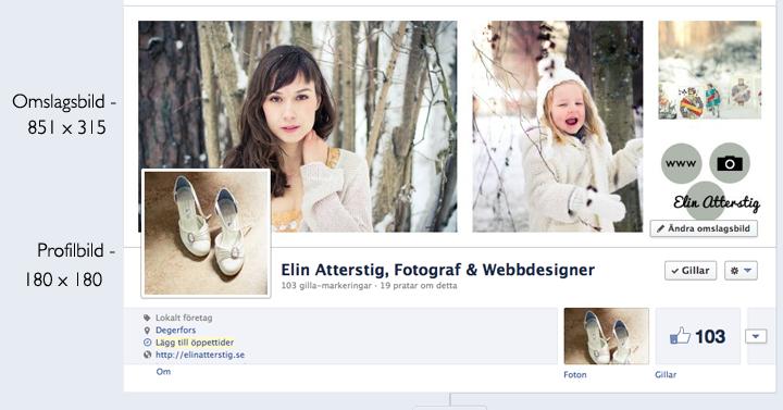 Omslagsbild Profilbild storlek på Facebook