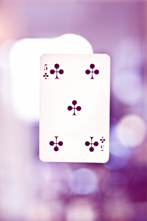 52 kort Klöver Fem