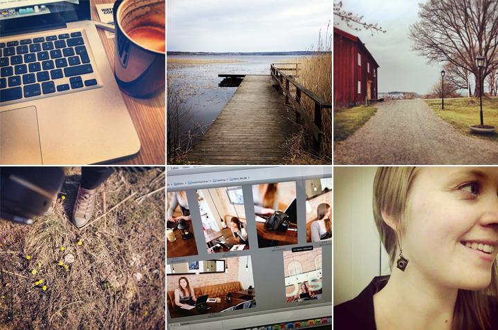 En fotografs arbete på Instagram