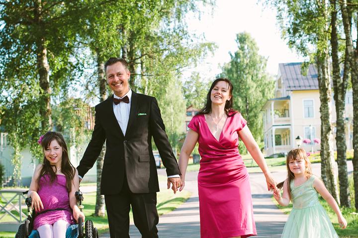 Familjefotografering Loka Brunn