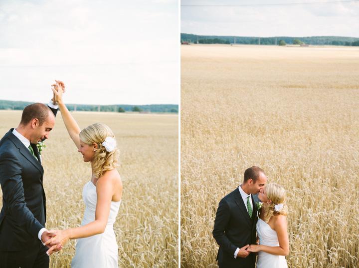 åker bröllopsfotografering