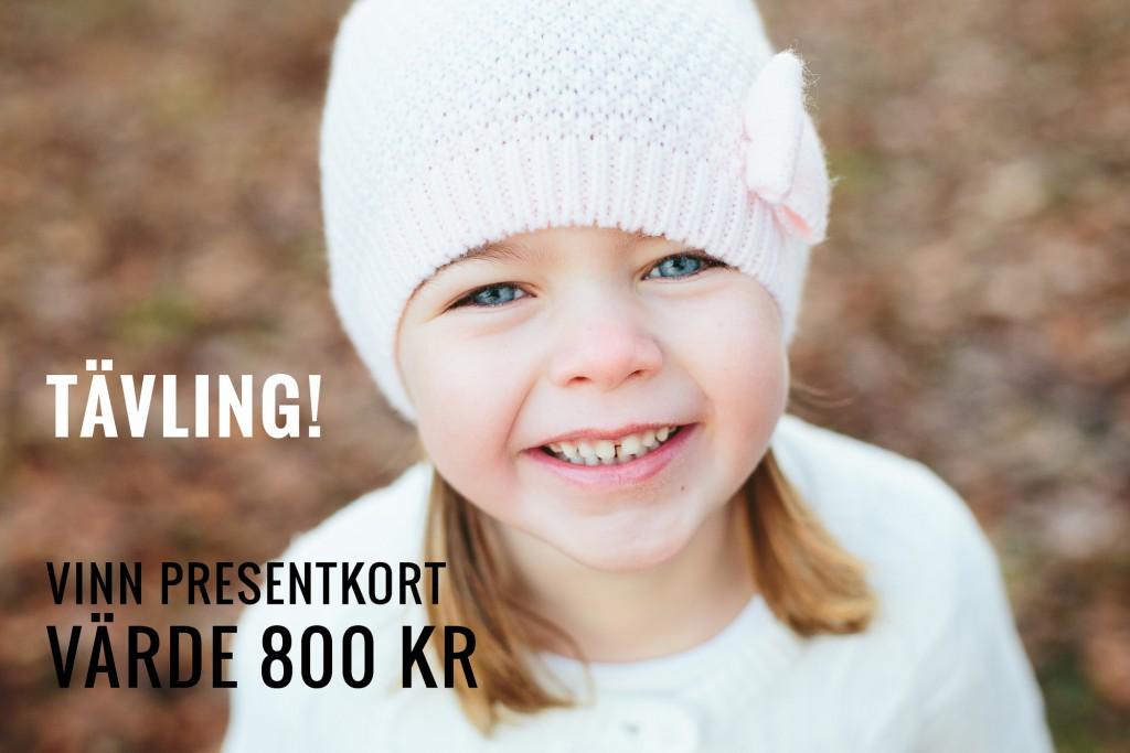 Barnfotografering tävling presentkort